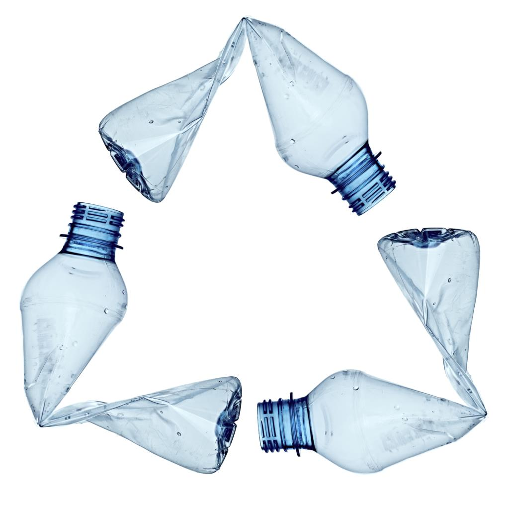Recycle Symbol with Plastic Bottles