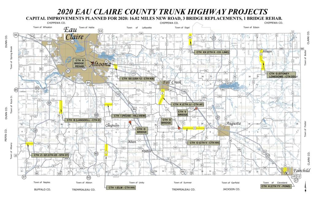 2020  HIGHWAY ROAD BRIDGE PROJECTS MAP-11x17-good
