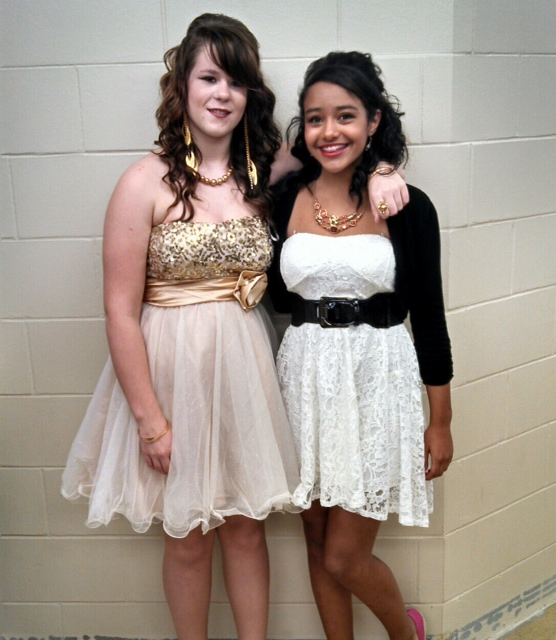 Celine and Sierra MHS Winter Dance